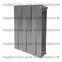 Радиатор биметаллический Royal Thermo PianoForte 500 / Silver Satin / 6 секций