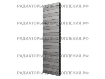 Радиатор биметаллический Royal Thermo PianoForte Tower / Silver Satin / 22 секции